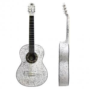 Guitarra Clasica Srpinkled Blanca