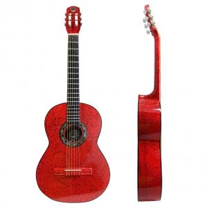 Guitarra Clasica Srpinkled Roja