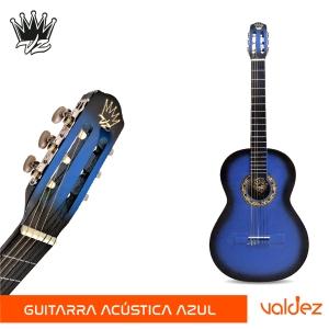 Guitarra GOLDEN clasica Azul con Negro