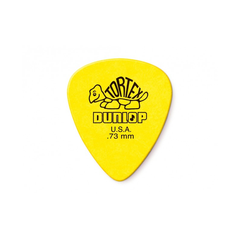 PLUMILLA JIM DUNLOP TORTEX AMARILLO .73 MM