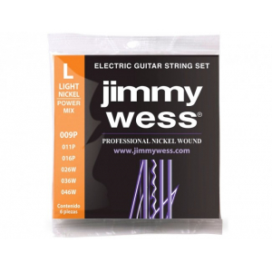 ENC. JIMMY WESS NICKEL 09-46 POWER MIX  JWGE-1009NH