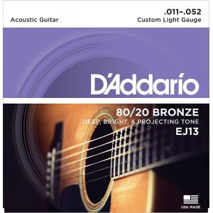 ENC. DADDARIO CUSTOM LIGHT 011-052 BRONZE EJ13 BRONCE