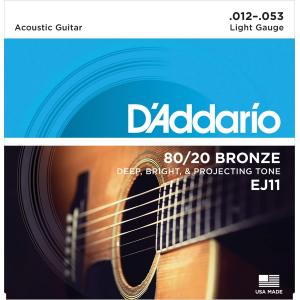 ENC. DADDARIO LIGHT 012-053 BRONZE EJ11 BRONCE