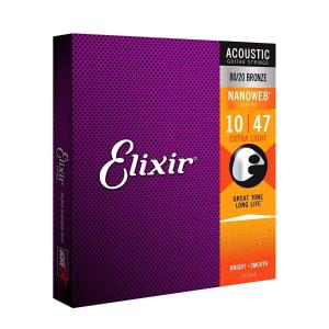 ENC. ELIXIR ACUSTIC NANOWEB CUSTOM LIGHT 10-47 11002