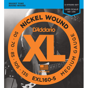 ENC. DADDARIO BAJO ELECTRICO 5 CUERDAS XL EXL160-5