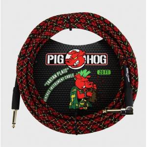 CABLE PLUG A PLUG 6 MTS TEJIDO PIG HOG PCH20PLR