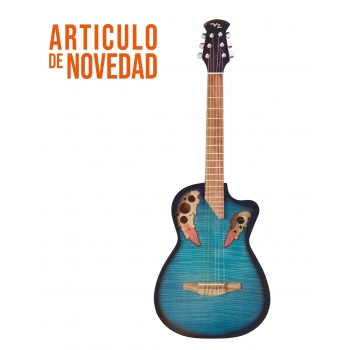 Guitarra acustica Richard Sam Azul