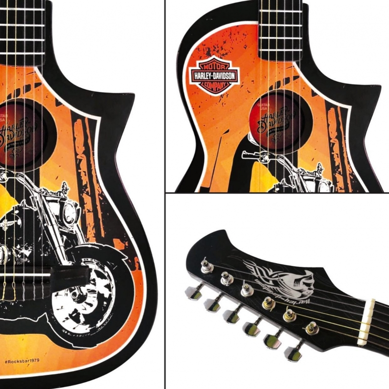 Guitarra Acústica Rockera Mod Harley Davidson